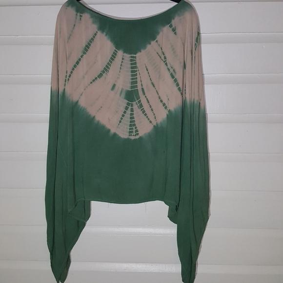 Vision USA Tops - Tie dye poncho/cape